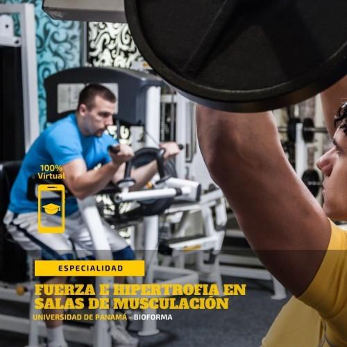 Especialidad: Entrenamiento de la fuerza en salas de musculación. (Seminario 100% Virtual)